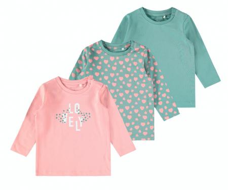 Set 3 bluze bebelusi, bumbac organic, fete - Katja0