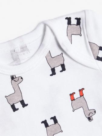 Set 3 body-uri bebelusi, bumbac organic, baieti - Lama2