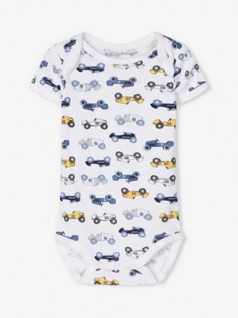 Set 3 body-uri bebelusi, maneca scurta, baieti - Name It Dusty Cars3