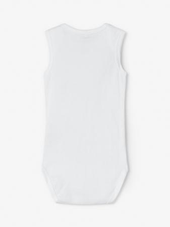 Set 3 body-uri bebelusi, tip maiou - Name It Solid white2