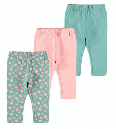 Set 3 pantaloni bebelusi, bumbac organic, fete - Katja0