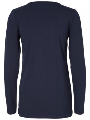 Set bluze alaptare din bumbac organic Tess albastru marin - alb4
