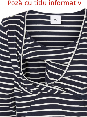 Set bluze alaptare din bumbac organic Tess albastru marin - alb5
