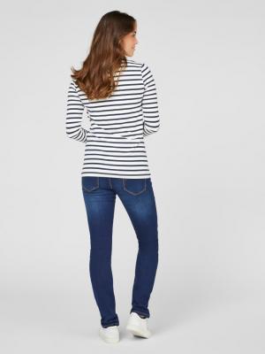 Set bluze alaptare din bumbac organic Tess albastru marin - alb2