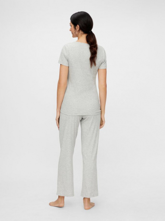 Set pijama, bluza si pantalon, bumbac organic - Mamalicious Amaja2
