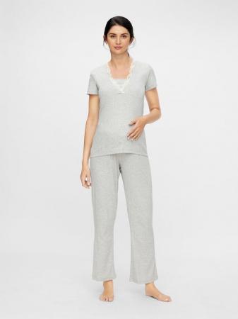 Set pijama, bluza si pantalon, bumbac organic - Mamalicious Amaja1