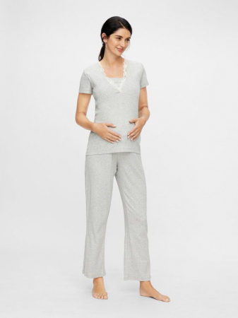 Set pijama, bluza si pantalon, bumbac organic - Mamalicious Amaja0