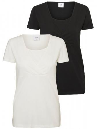 Set tricouri alaptare din bumbac organic Mamalicious Tess0