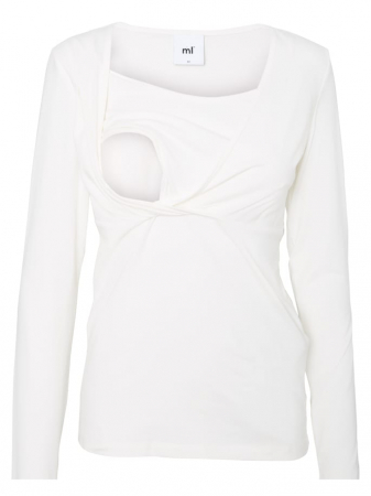 Set 2 bluze alaptare din bumbac organic Tess alb-negru7