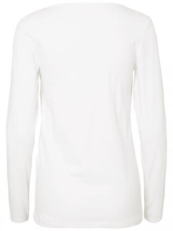 Set 2 bluze alaptare din bumbac organic Tess alb-negru5