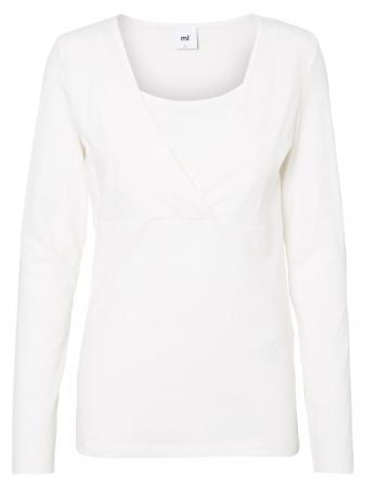Set 2 bluze alaptare din bumbac organic Tess alb-negru4