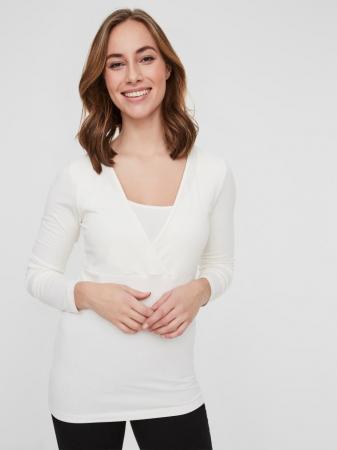 Set 2 bluze alaptare din bumbac organic Tess alb-negru2