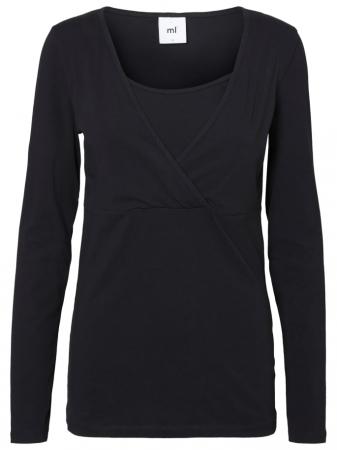 Set 2 bluze alaptare din bumbac organic Tess alb-negru3
