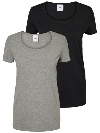 Set tricouri pentru alaptare Lea bumbac organic0