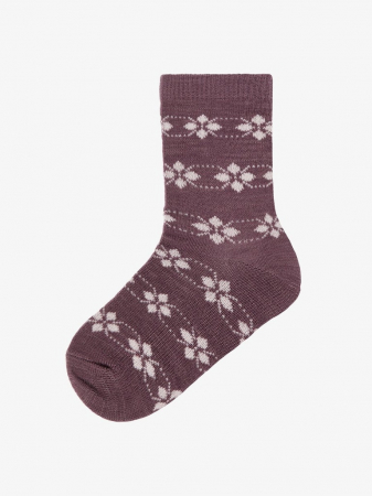 Sosete fete, din lana Merinos, set 4 perechi - Name it Wak10