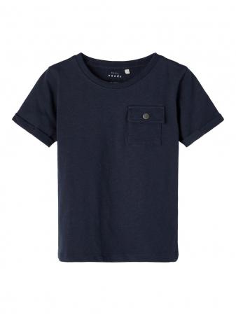 Tricou copii, bumbac organic, baieti - Name It Vebbe Sapphire0