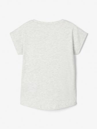 Tricou copii, bumbac organic, fete – Name It Vigea gri1
