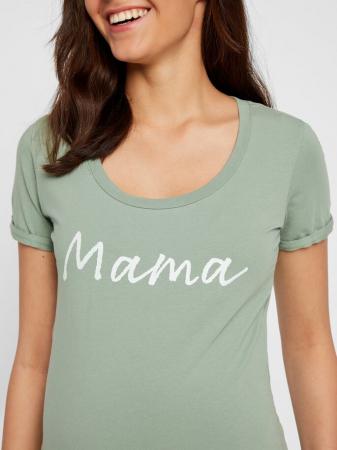 Tricou pentru gravide Lucca Green Bay3