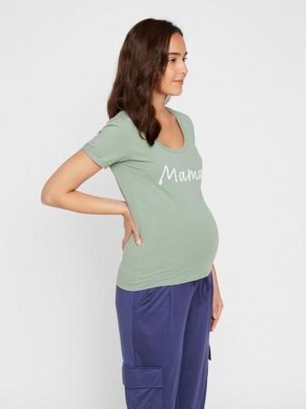 Tricou pentru gravide Lucca Green Bay0