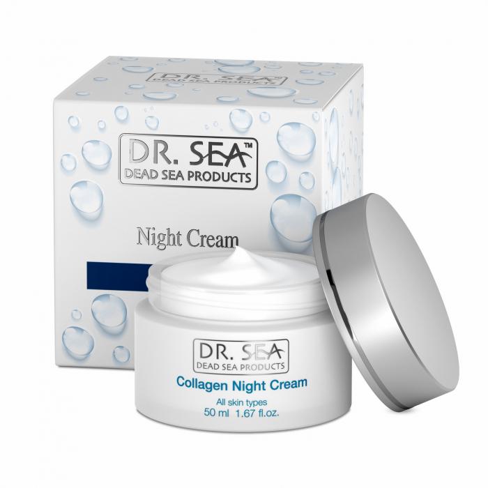 Crema de noapte cu Colagen si Minerale de la Marea Moarta 0