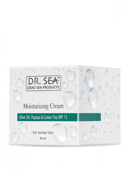 Crema Hidratanta cu Minerale de la Marea Moarta, Ulei de masline, Papaya si Ceai verde SPF15 [3]