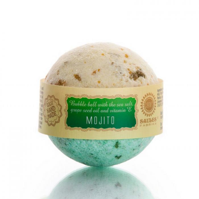 Sare de baie efervescenta cu Mojito 100% Handmade 0