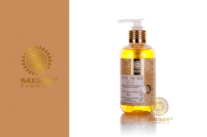 Set Cadou 2 Produse - Gel de Dus Gold si Sapun Lichid pentru maini Gold- Saules Fabrika 1