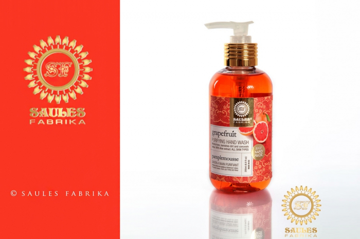 Set Cadou 2 Produse - Gel de Dus Grapefruit si Sapun Lichid pentru maini Grapefruit- Saules Fabrika [2]