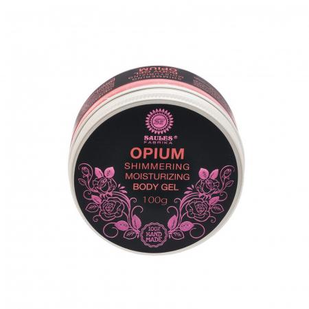 Gel de corp Opium hidratant cu efect de sclipire 100% Handmade0