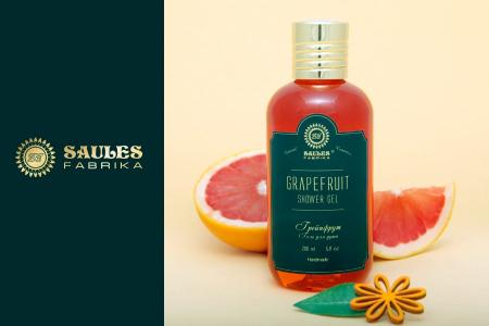 Set Cadou 2 Produse - Gel de Dus Grapefruit si Sapun Lichid pentru maini Grapefruit- Saules Fabrika [1]