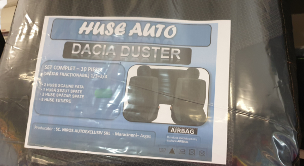 Huse auto dacia duster Set complet 10 piese 0