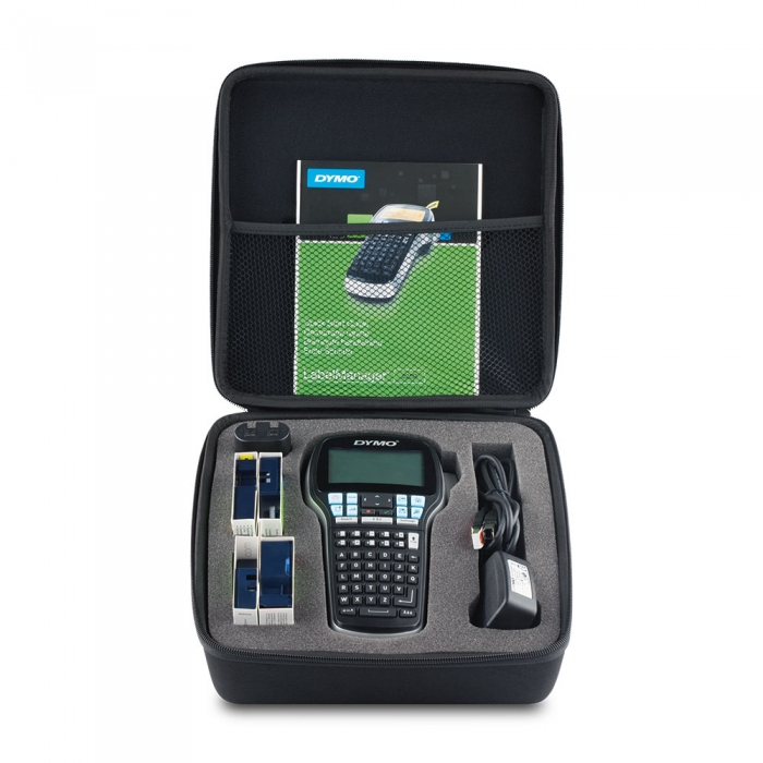 DYMO LabelManager 420, ABC, kit case, PC connection and 1 professional label box, 12 mmx7m, black/white, S0915480, 45013-big