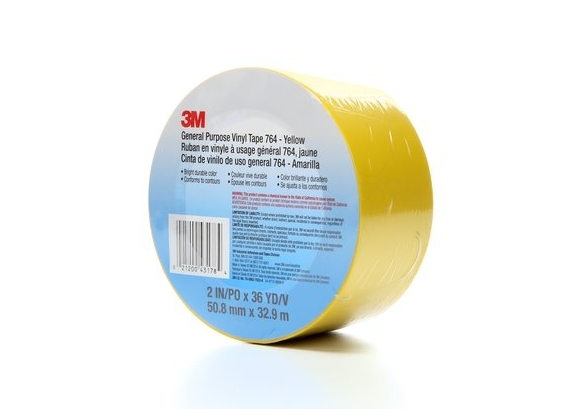 Banda marcare/protectie, 1 culoare, 3M 764I vinil, galben, 50mm X 33m, 24 role/cutie-big