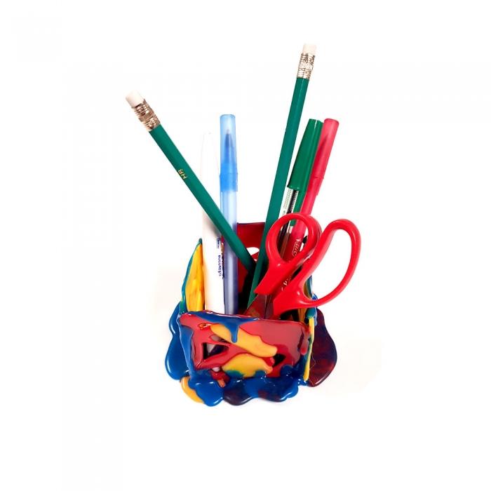 Baton silicon profesional Rapid Universal color (rosu, galben, albastru), Ø12mm x 190mm, baza EVA, 250g/blister 24941400-big