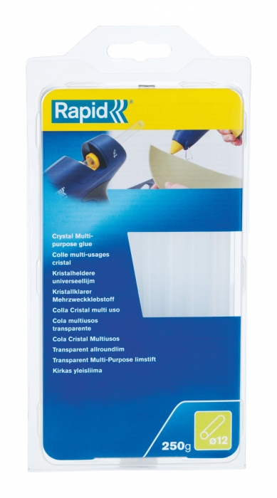 Batoane lipici Rapid FUN to FIX 250G cu diametrul de 12mm x 190mm, super transparent-big