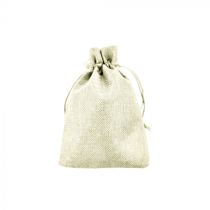 Saculet textil bej 17cm x 11.5cm-big