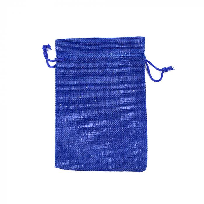 Saculet textil albastru 17cm x 11.5cm-big