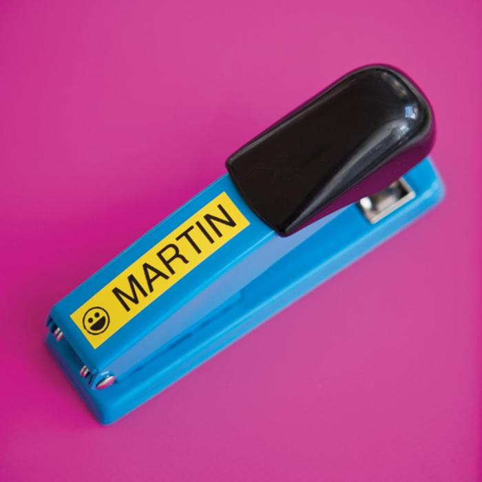 Etichete autocolante compatibile, Brother TZe-651, 24mm x 8m, negru/galben, TZe-651-C-big