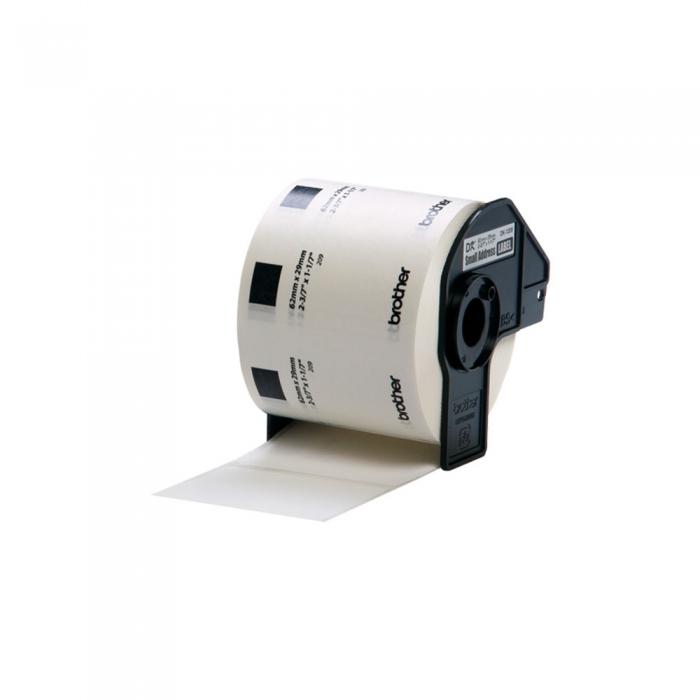 Etichete termice autocolante compatibile, Brother DK-22209, hartie alba, 29mmx62mm, 800 etich/rola, DK22209-C-big
