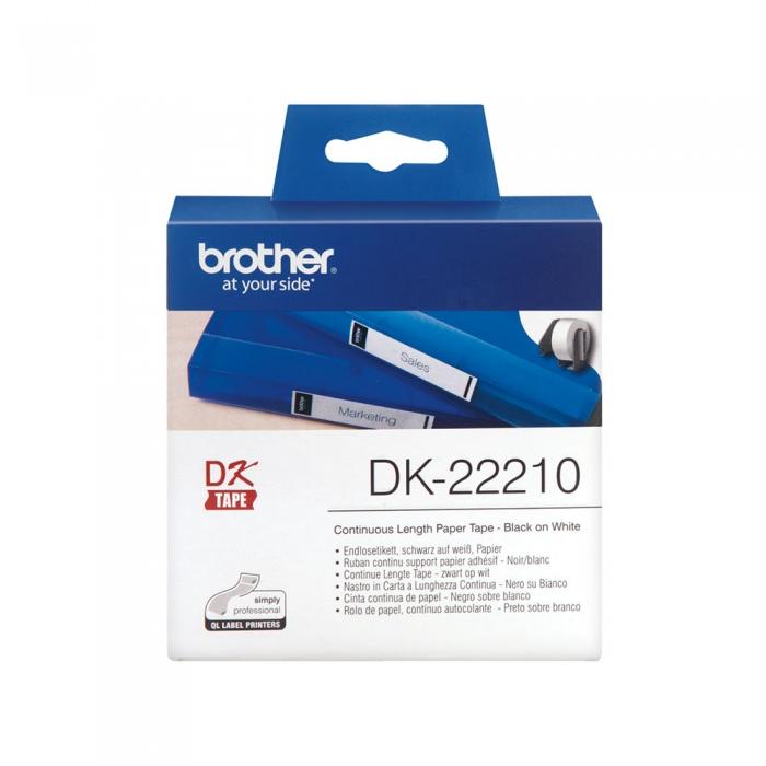 Brother DK banda hartie alba 29mm x 30.48m, DK22210-big
