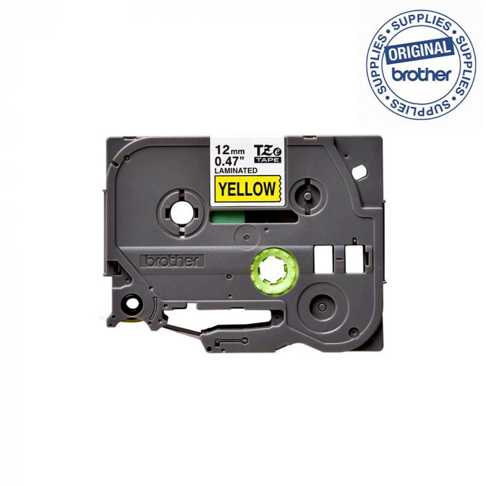 Brother TZE631 etichete originale laminate 12mm x 8m, negru pe galben, P-Touch TZe-631-big