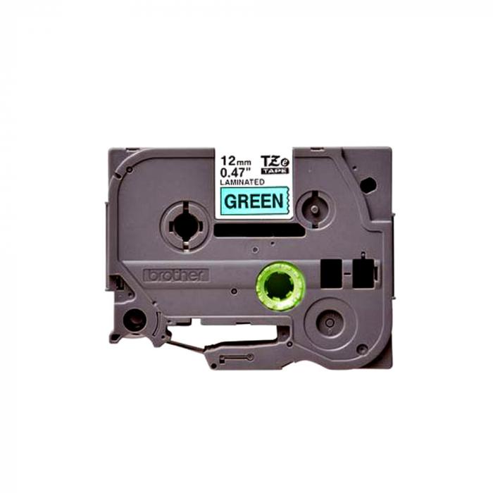 Brother TZE731 etichete originale laminate 12mm x 8m, negru pe verde, P-Touch TZe-731-big