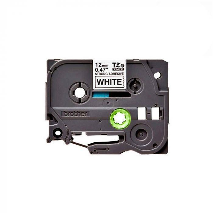 Brother TZES231 etichete originale adeziv puternic 12mm x 8m, negru pe alb, PTouch laminate, utilizare la interior sau exterior, rezistenta la apa TZe-S231-big