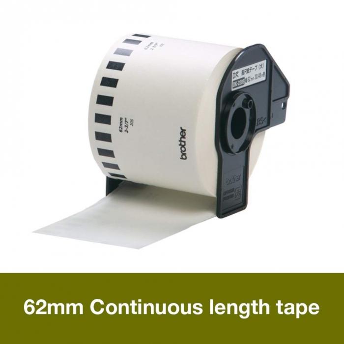 Eticheta originala modul continuu hartie Brother DK22205, 62mm x 30.48m, BH DK22205-big