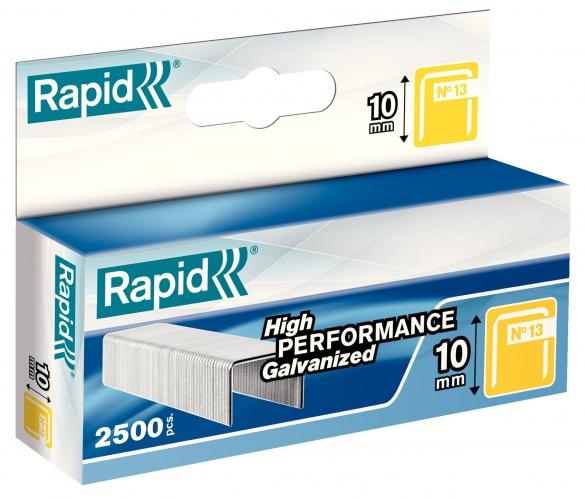 Capse Rapid 13/10 mm, galvanizate, 2.500/ cutie-big