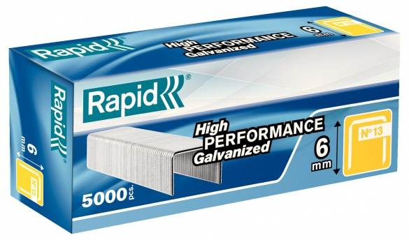Capse Rapid 13/6 mm, galvanizate, 5.000/ cutie-big