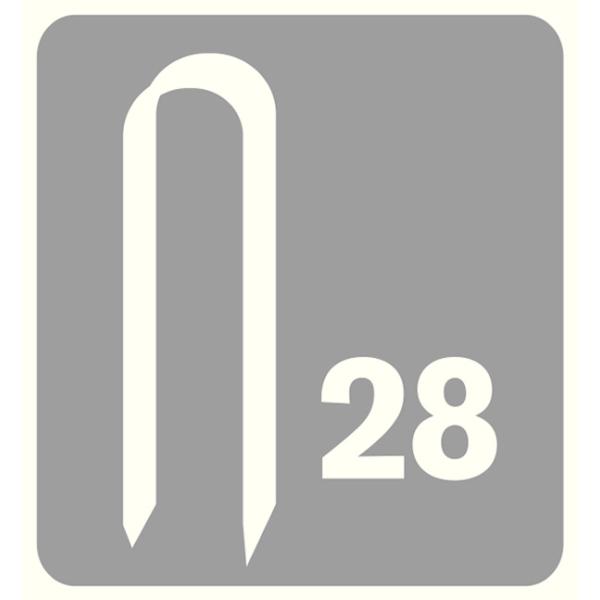 Capse Rapid 28/11 mm, galvanizate alb, divergente, 5 x 1.000/ cutie-big