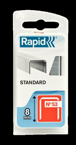 Capse Rapid 53/8 mm, STANDARD, 1.060/ blister-big
