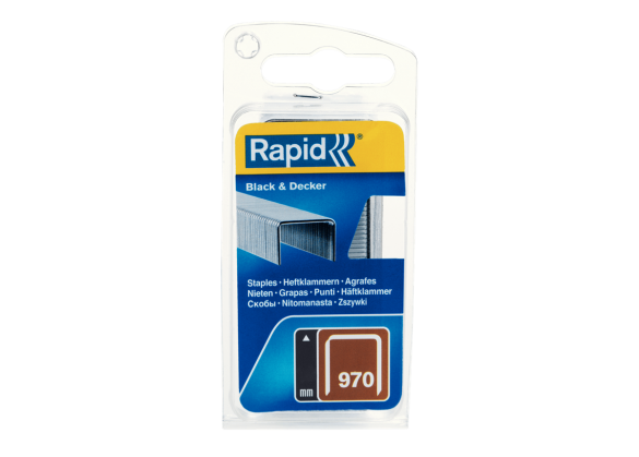 Capse Rapid 970/6 mm, galvanizate, 1.344/ blister-big