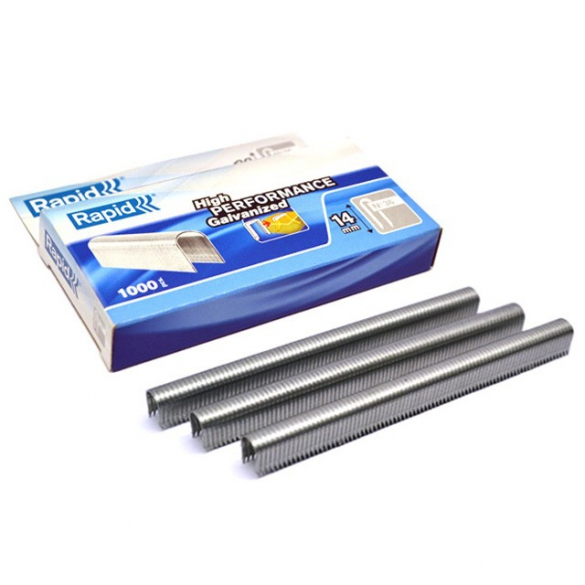 Rapid semi-circular staples 36/14mm, galvanized, divergent, 1,000 pcs / box-big